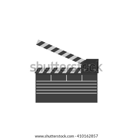 clapperboard, take, icon. Vector illustration