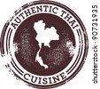 Classic Authentic Thai Food Stamp - stock