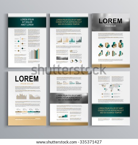 Business Brochure Template Design Orange Square Stock Vector - Horizontal brochure template