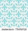 classic wallpaper with Victorian ornament, seamless pattern - stock vector