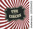 Classical circus background, vector, eps10 - stock photo