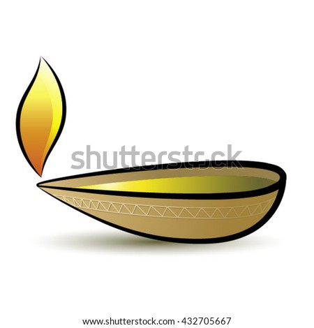 Oil Lamp Three Color Variations Vector Stock Vector 416141692 ...