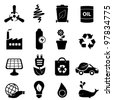 Clean energy and environment icon set - stock vector