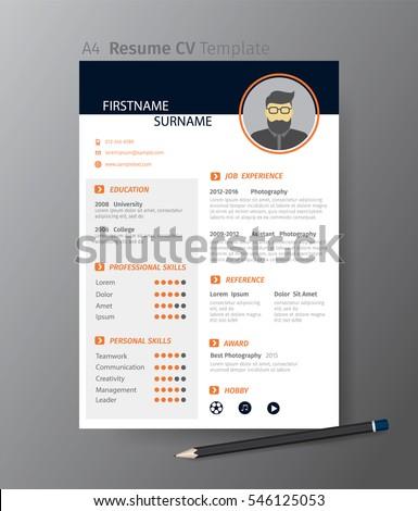 clean modern design template of resume or cvvector illustration - Cv Design Templates Vector