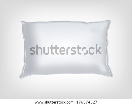 Clean white vector pillow mockup for texturing and patterns