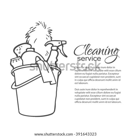 Cleaning Services Hand Drawn Spray Dust Stock Vector 391643323 ...
