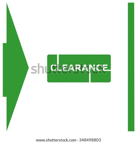 Clearance Sign Vector Lettering.
