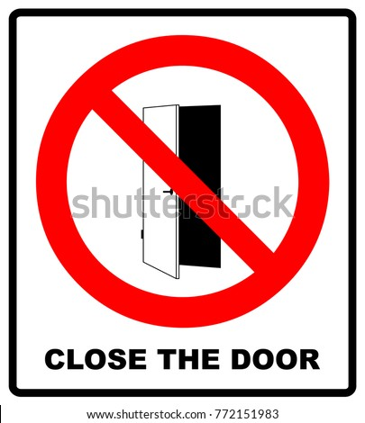 Close the door sign. Keep this door closed icon. Vector illustration isolated on white  sc 1 st  Shutterstock & No Swimming Warning Signs Vector Illustration Stock Vector ... pezcame.com