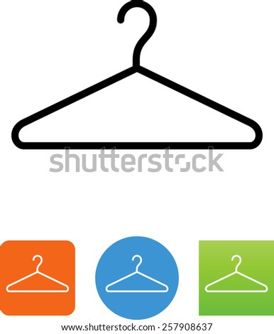 Clothes hanger symbol for download. Vector icons for video, mobile apps, Web sites and print projects.