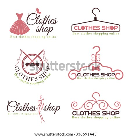 Orange Black House Logo Set Vector Stock Vector 384721051