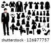 Clothes silhouettes - stock vector