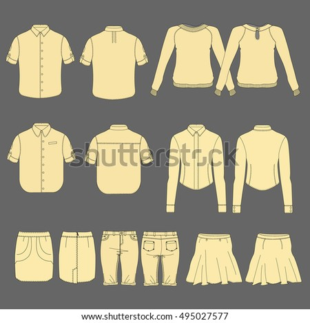 Clothes vector illustration.