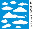 Cloud Blue Sky Vector - stock vector