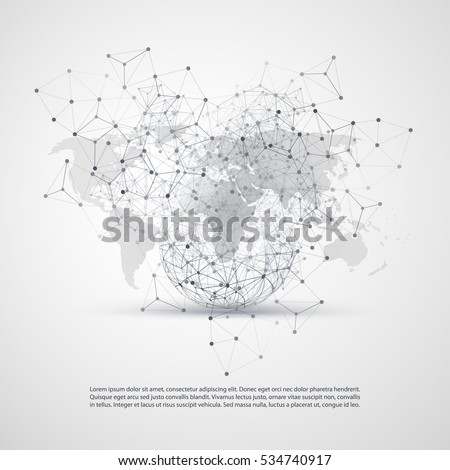 Cloud computing networks concept world map vectores en stock cloud computing and networks concept with world map global digital network connections technology background gumiabroncs Images