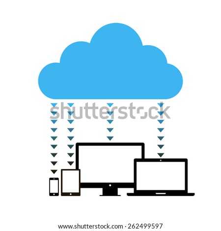 Cloud computing concept design. Vector illustration