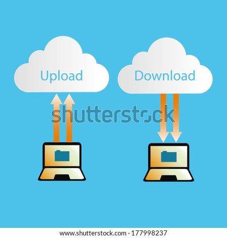 Cloud Computing Concept upload download