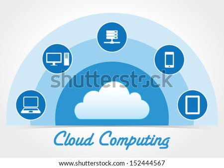 Cloud Computing Concept - Vector Background