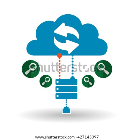 Cloud computing design. Trip icon. Flat illustration, technology vector
