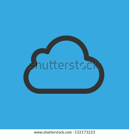 cloud icon. flat design