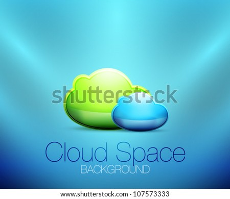 Cloud space concept background