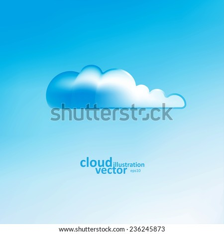Cloud vector background, creative style illustration eps10