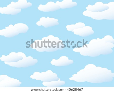 Clouds background, vector illustration