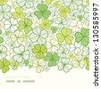Clover line art horizontal decor seamless pattern background - stock vector