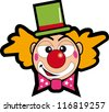 clown face. A clown face for a sticker. - stock vector