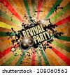 Club party flyer for music event and promotional posters. Retro vintage style with a lot of grunge elements. - stock vector