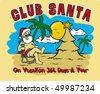 club santa - stock vector