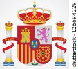 Coat of arms of Spain isolated on white background - stock vector