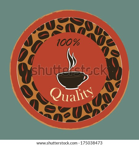 coffee design over blue  background vector illustration