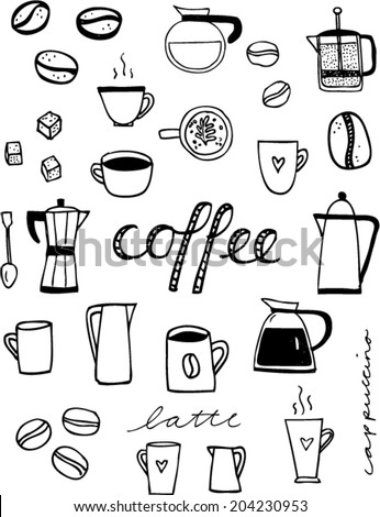 how to draw a coffee bean