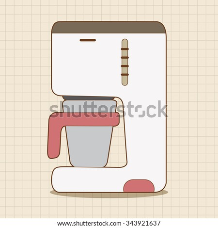 Vector Portable Coffee Maker : Red Shading Silhouette Cartoon Hand Holding Stock Vector 637367503 - Shutterstock