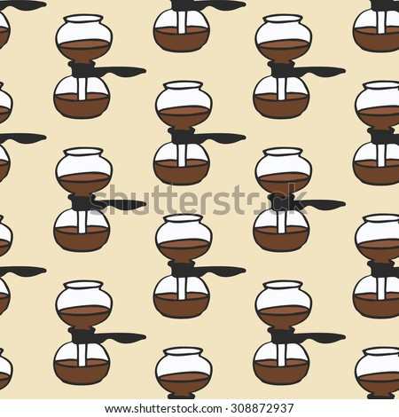 Coffee Brewing Methods Set Handdrawn Cartoon Stock Vector ...