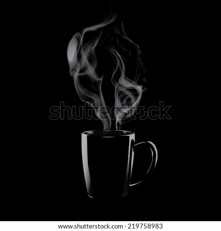 Coffee mug with steam,Steaming of tea or coffee isolate vector
