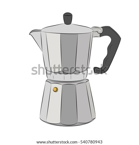 Vector Portable Coffee Maker : Isolated Coffee Kettle Design Stock Vector 531011140 - Shutterstock