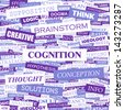 COGNITION. Word cloud concept illustration.  - stock photo