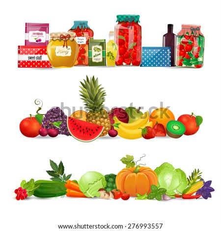 Shelves Kitchen Utensils Stock Vector 74425723 Shutterstock