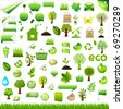 Collection Eco Design Elements, Isolated On White Background, Vector Illustration - stock photo