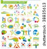COLLECTION_4 of abstract Communication Symbols, vector business web icons. Set of colorful trade marks for your company or site - stock vector