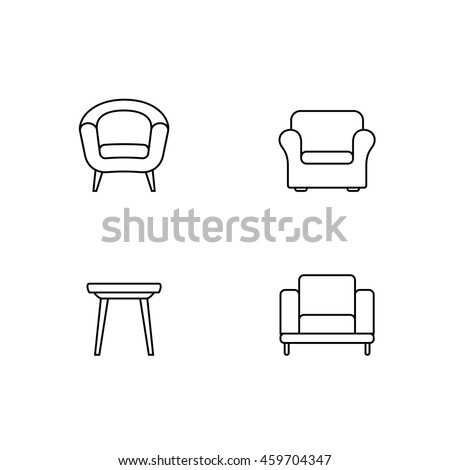 Stock Vector Classic Chair Outline Chair Icon Vector Illustration in addition 805892 Man Sitting On Couch Chair likewise I furthermore Stock Vector Chair Logo additionally Household Coloring Pages 2. on sofa bed leather couch