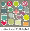 Collection of hand-drawn color icons - stock vector