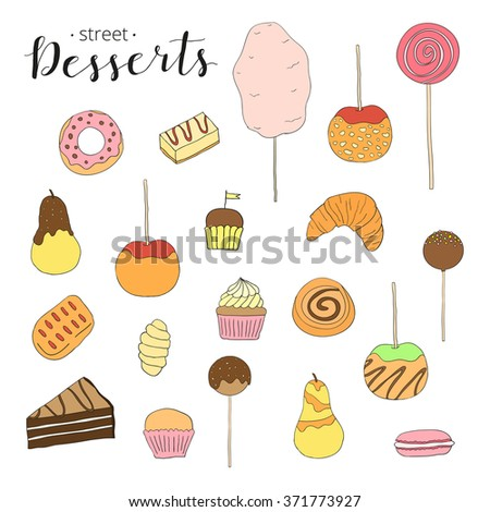 how to draw desserts candy apple