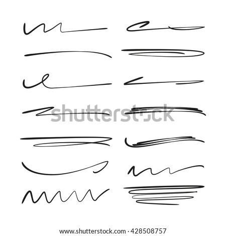 hand drawn grunge brush smears brush stock vector 460253983
