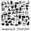 Collection of household items. - stock vector