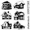 Collection of houses - stock vector