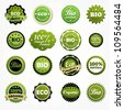 Collection of premium quality bio product labels - stock vector