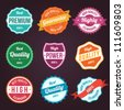 Collection of retro vintage colorful design labels - stock vector
