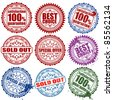 Collection stamps to store, element for design, vector illustration - stock photo